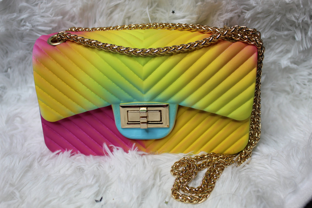 Rainbow Jelly Clutch