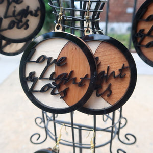 Love, Light & Locs Moon Earrings