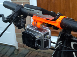 DUAL GARMIN & GOPRO/LIGHT MOUNT FOR 31.8mm H/BARS  3D PRINTED MADE IN THE UK