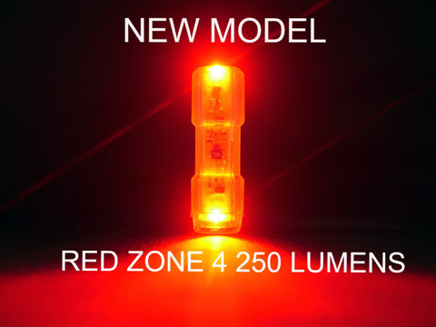 NITEFLUX RED ZONE 4 250 LUMEN REAR BIKE LIGHT Made in Australia NEW MODEL