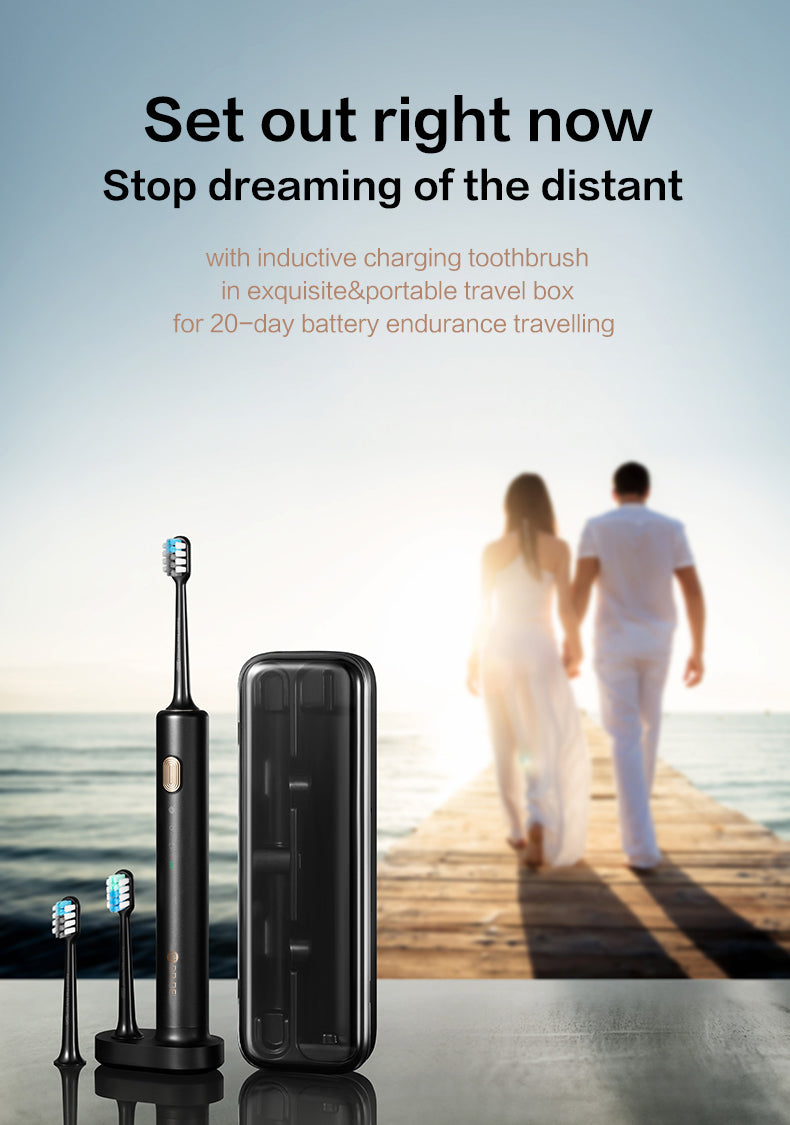 DR.BEI Black Gold Sonic Electric Toothbrush BET-S03 Xiaomi Youpin DR.BEI BY-V12 Ultrasonic Electric Toothbrush Portable 3 Models Soft Electric Tooth Brush IPX7 Rechargeable Adults Oral Cleaner