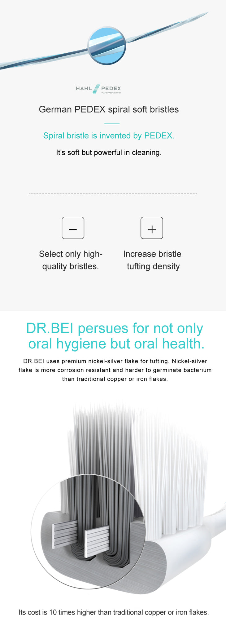 DR.BEI Bass Toothbrush, 4 Pieces (Xiaomi Version) Xiaomi Youpin DR.BEI Xiaomi Tooth Mi Bass Method Sandwish-bedded Better Brush Wire 4Colors Deep Cleaning Toothbrush