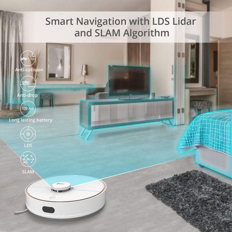 360 S7 Robot Vacuum Cleaner 2 in 1 Laser Navigation International English Version [Wistech Home] - Wistech Singapore