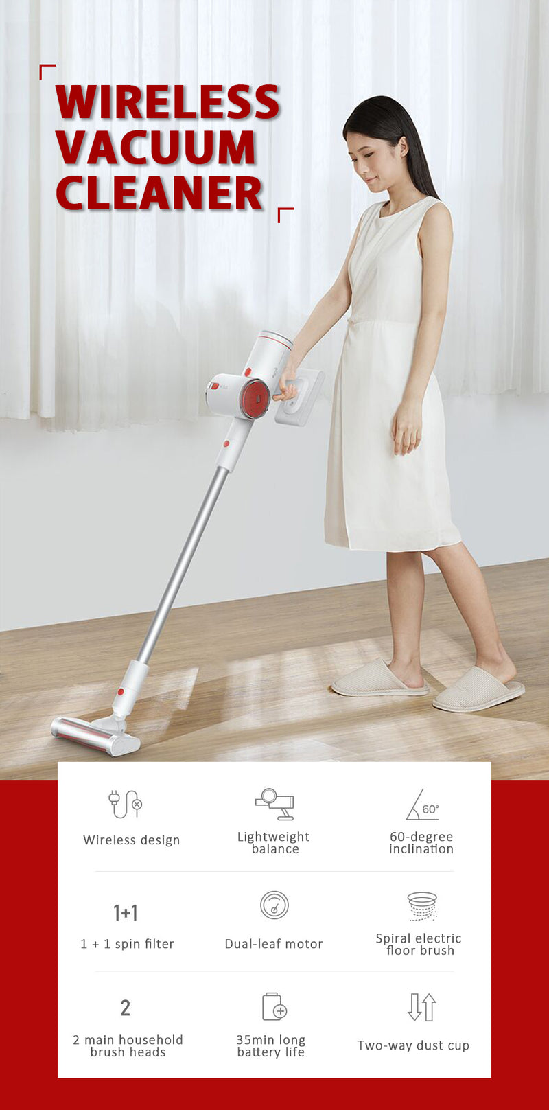 Xiaomi Deerma VC25 2 in 1 Vertical Handheld Vacuum Cleaner | Lightweight | Cordless | Ultra Quiet | Car Vacuum [Wistech Home] - Wistech Singapore