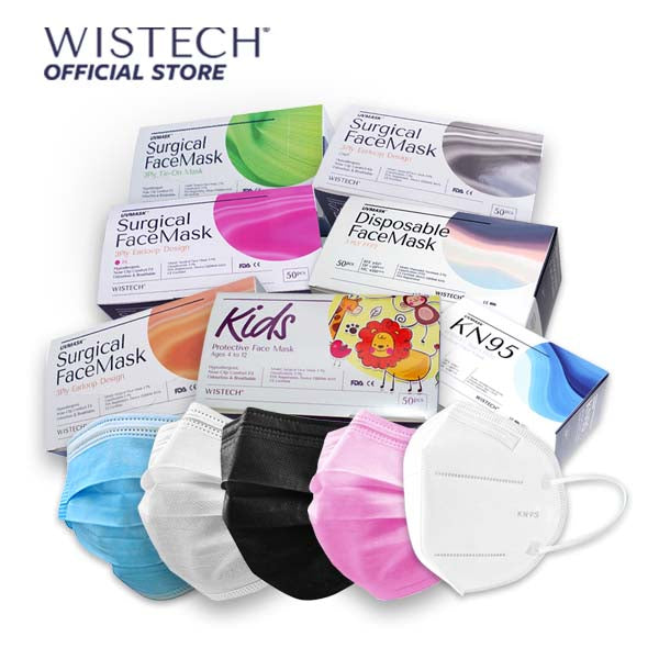 Rose Gradient Wistech 3 Ply Surgical Face UV MASK - Surgical Masks - Wistech Singapore