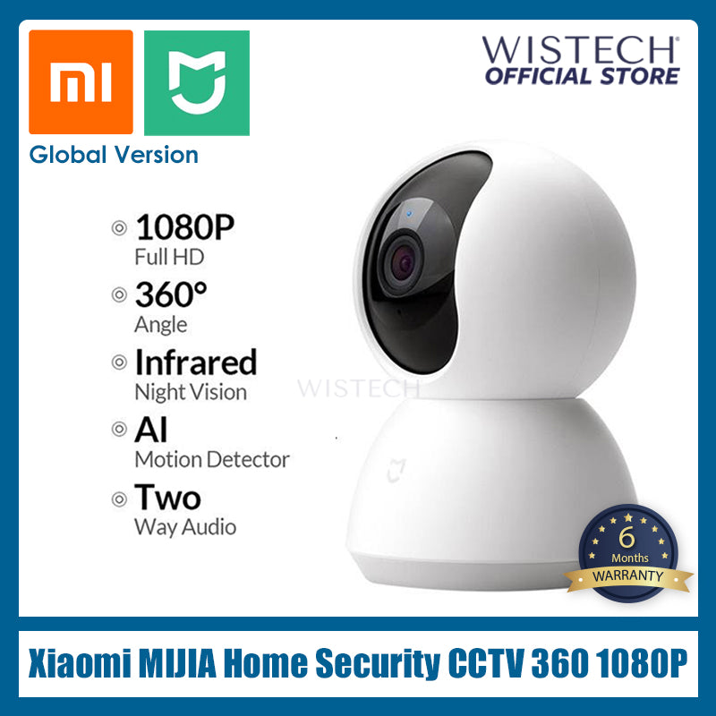 [Global Version] Xiaomi Mi iMiLab Home Smart IP Home Security 360 - Electronic accessories - Wistech Singapore