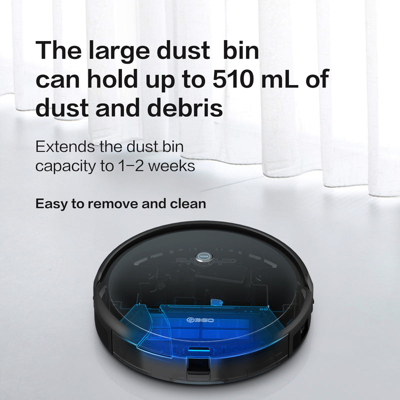 360 C50 Robot Vacuum Cleaner 2600Pa Large Suction 300Ml Water Tank [Wistech Home] - Wistech Home - Wistech Singapore