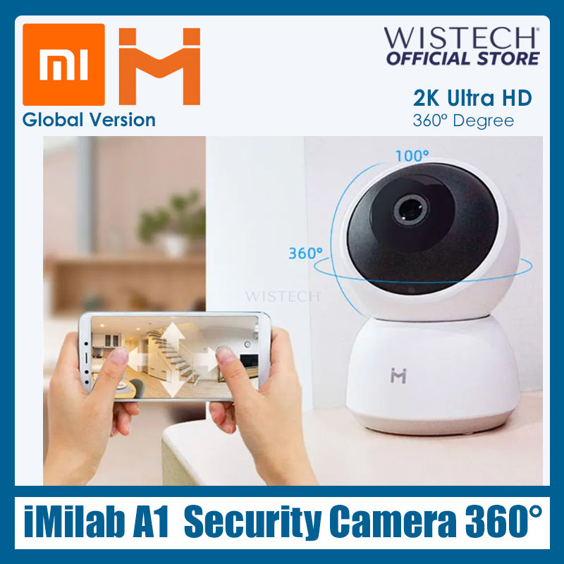 [Global Version] Xiaomi iMilab A1 360° Home Security Camera - Electronic accessories - Wistech Singapore