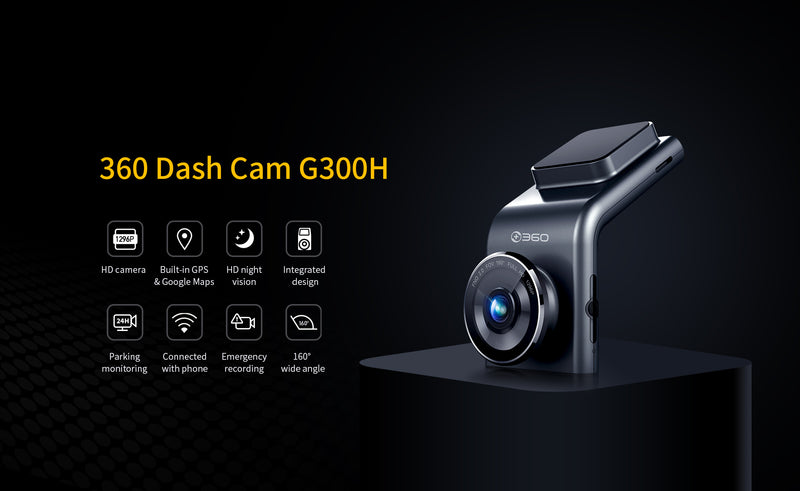 360 G300H Car Camera Recorder Dash Cam [Wistech Home] - Wistech Singapore