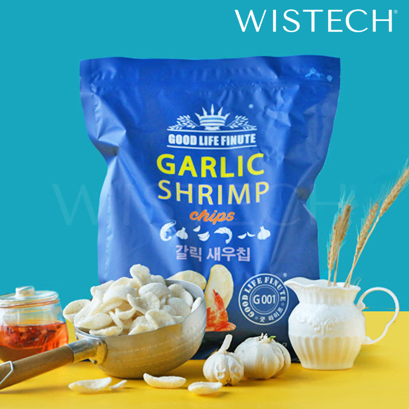 Good Life Finute Garlic Shrimp Chips 240g GIANT SIZE Wistech [Korean Snack] -  - Wistech Singapore