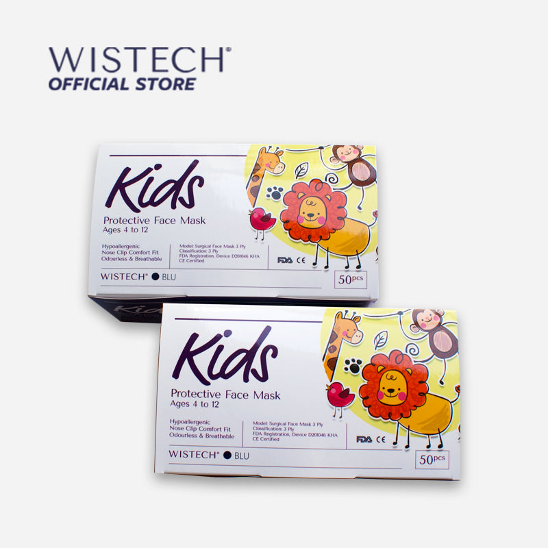 Wistech 3-Ply Kids Protective Face Mask UVMASK™️ (Blue) - Kids Masks - Wistech Singapore