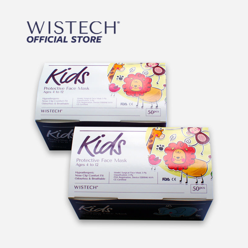 Wistech 3-Ply Kids Protective Face Mask UVMASK™️ (Blue Car) - Kids Masks - Wistech Singapore