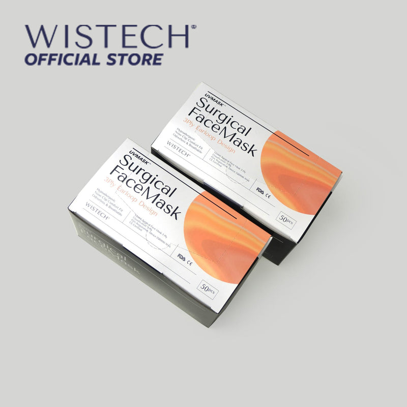 Wistech 3-Ply Surgical Face Mask UVMASK™️  (Purple) - Surgical Masks - Wistech Singapore