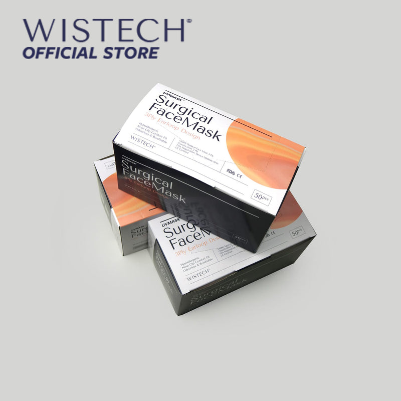 Wistech 3-Ply Surgical Face Mask UVMASK™️  (Green) - Surgical Masks - Wistech Singapore