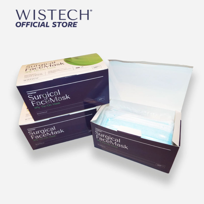 Wistech 3-Ply Tie-on Surgical Face Mask UVMASK™️ (TIE ON) - Surgical Masks - Wistech Singapore