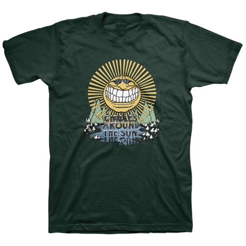 Smiling Sun Tee - Forest