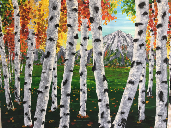 """Alpine Autumn"" 48x60"
