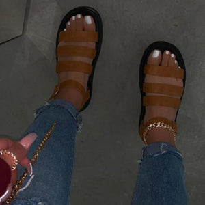 European and American popular women's shoes summer sandals slippers European and American crystal shoes