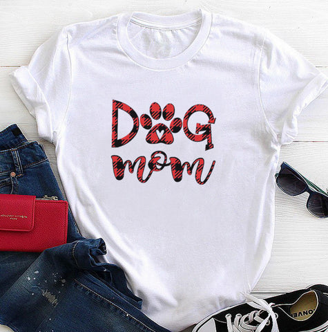 Dog mom Casual Short Sleeve T-Shirt