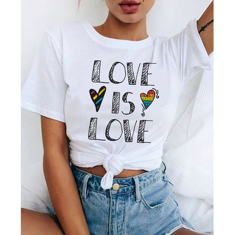 LOVE IS LOVE Rainbow print women's T-shirt