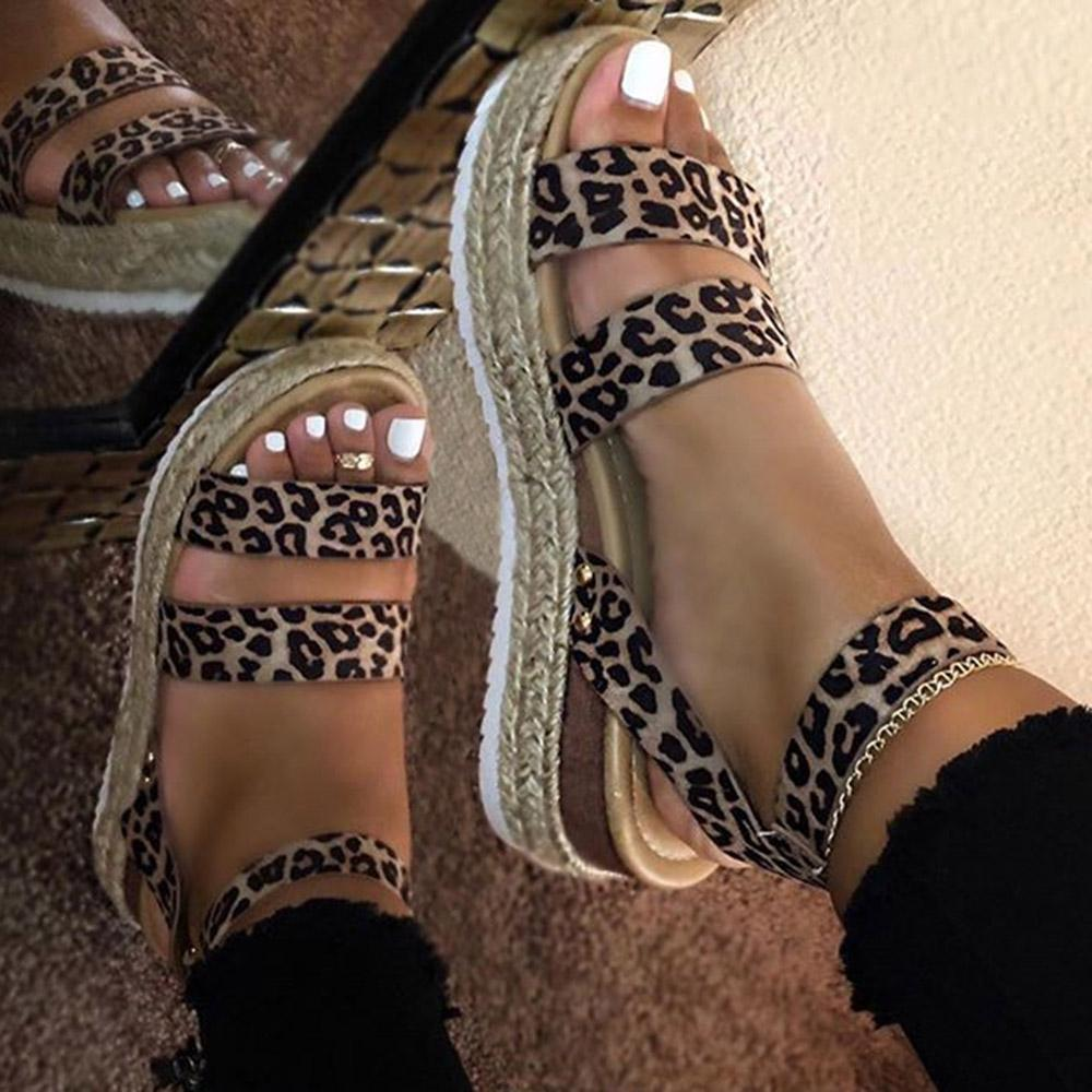 Summer fashion leopard print women's sandals