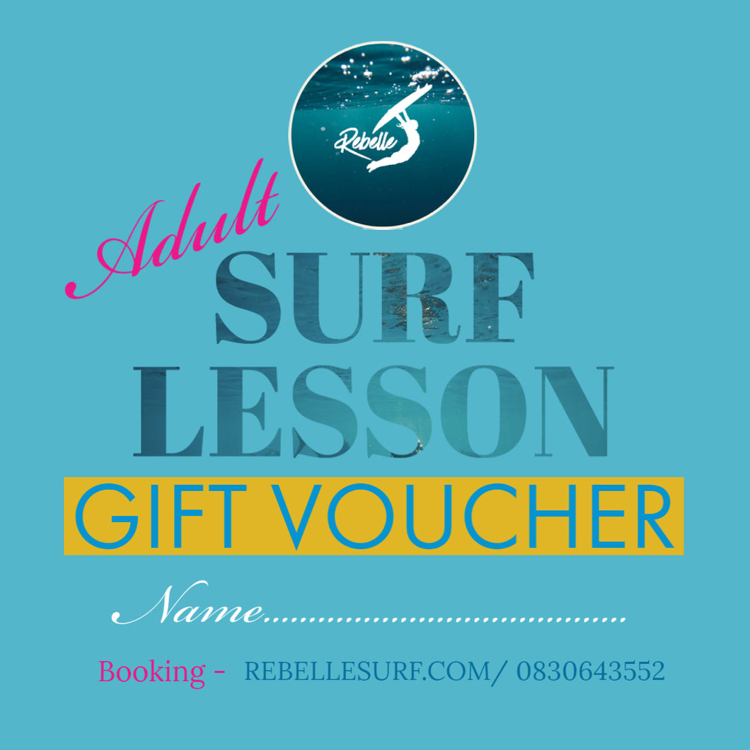 Gift Voucher Adult Surf Lesson