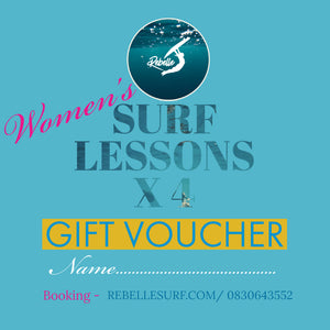 Gift Voucher Women's Surf Session x 4 Lessons