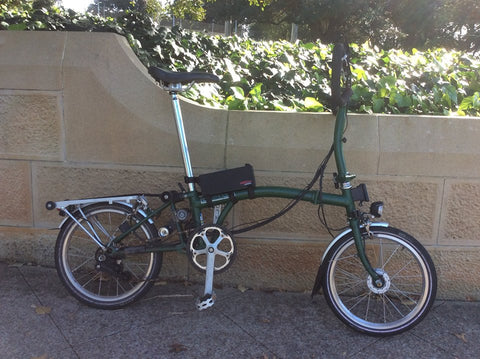 electric brompton converted with hidden power kit