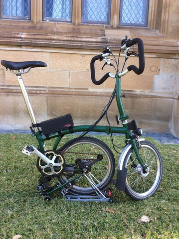 Electric Folding Brompton Bicycles with Hidden Power conversion kit