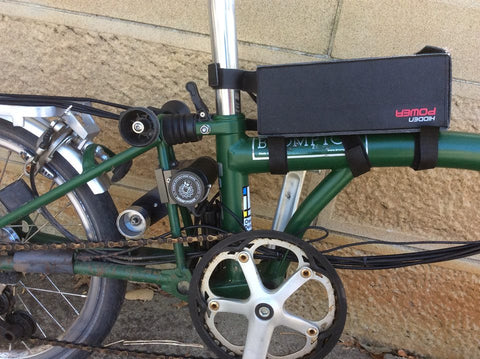 electric brompton with hidden power kit - battery