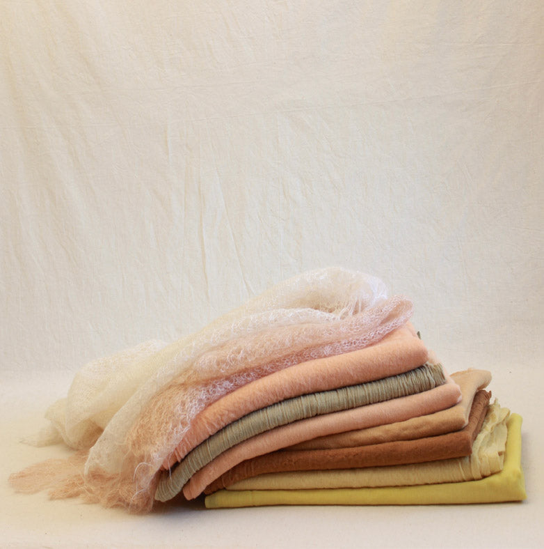 Naturally Dyed, Eco-friendly Woollen Scarves & Shawls