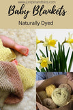 Naturally dyed baby blanket