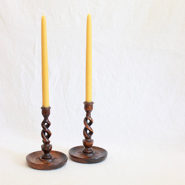 Arts & Crafts Candle Sticks - Open Barley Twist-Sold Individually