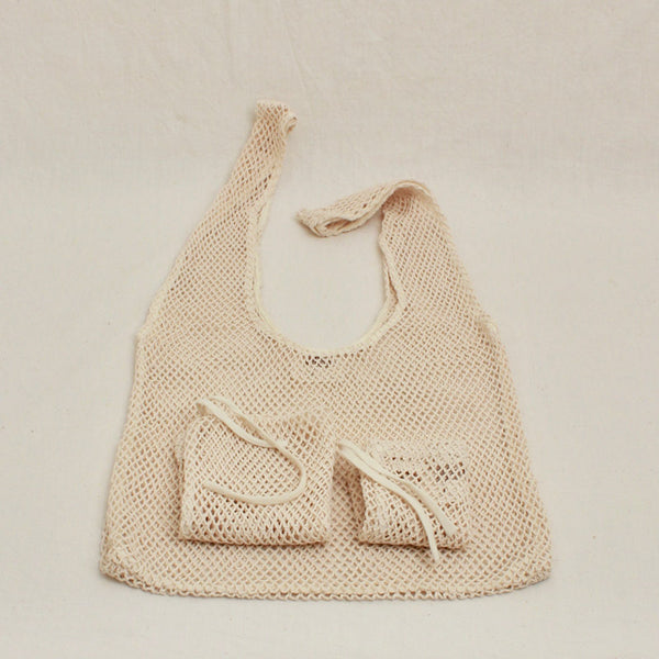 All Purpose Cotton Mesh Pouches - Juniper & Bliss