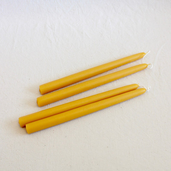 Natural Beeswax Taper Candles - Juniper & Bliss