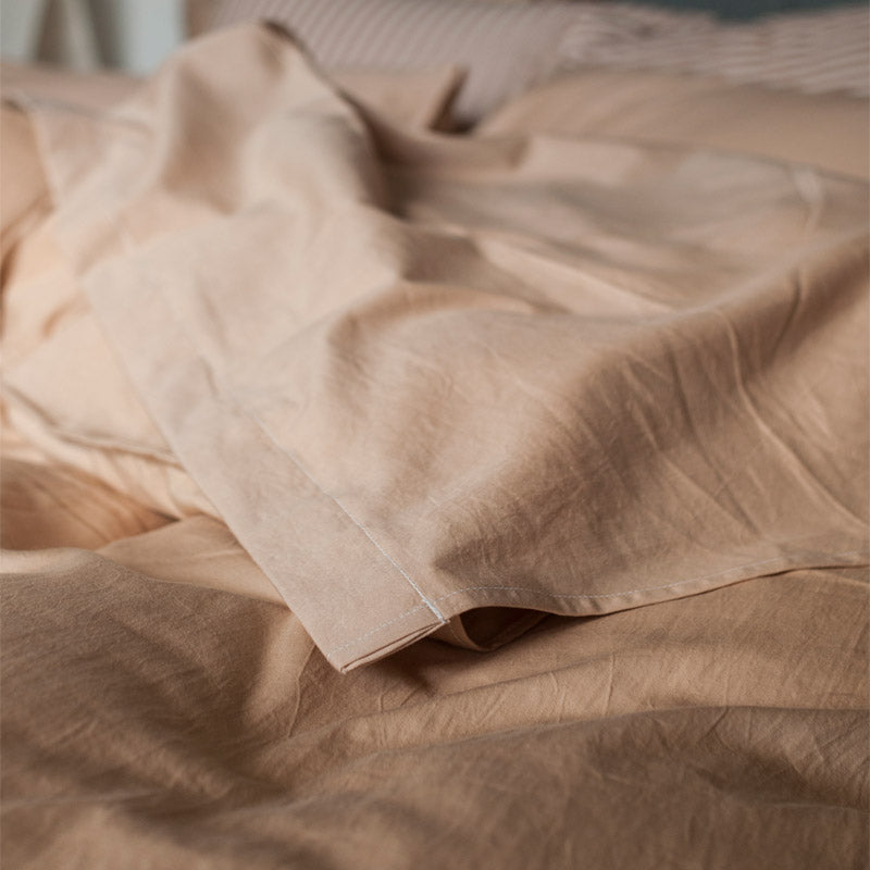 Bliss Bedding - Handwoven and Plant Dyed Organic Cotton Loose Sheets - Juniper & Bliss