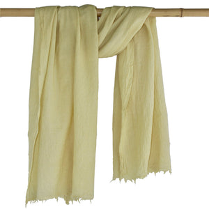 Botanica Woollen Shawls - Soft Yellow - Juniper & Bliss