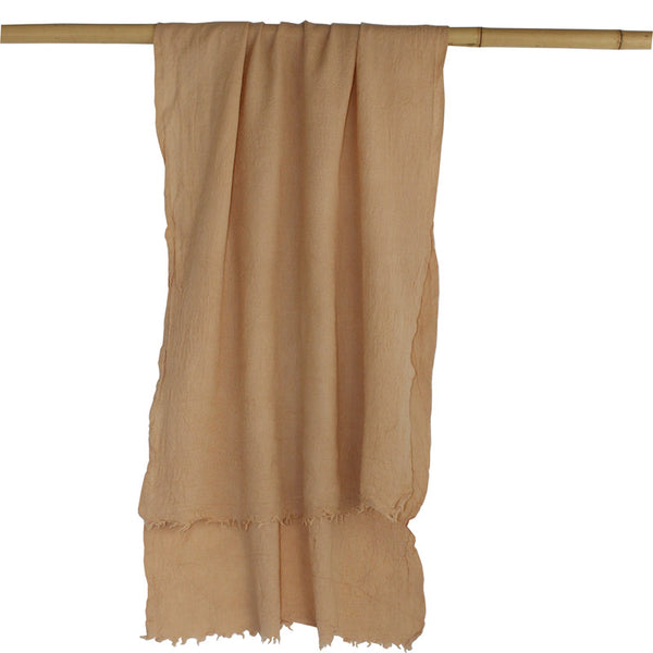 Naturally Dyed, Eco-friendly Woollen Shawls -  Botanica Pale Taupe - Juniper & Bliss