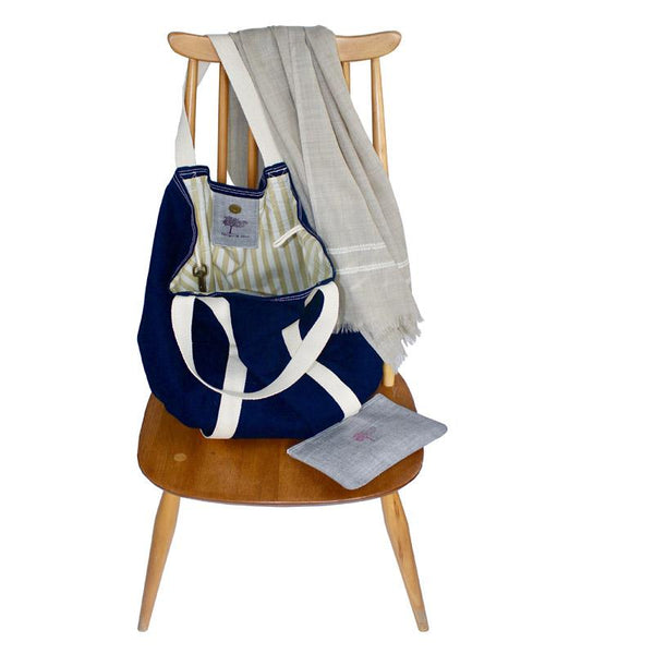 Everyday Bag in Organic Denim - Juniper & Bliss