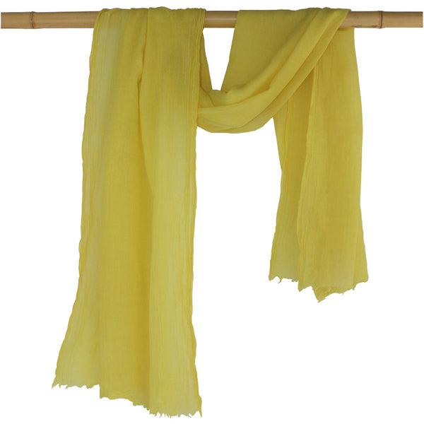 Naturally Dyed, Eco-friendly Woollen Shawls -  Botanica Bright Yellow - Juniper & Bliss