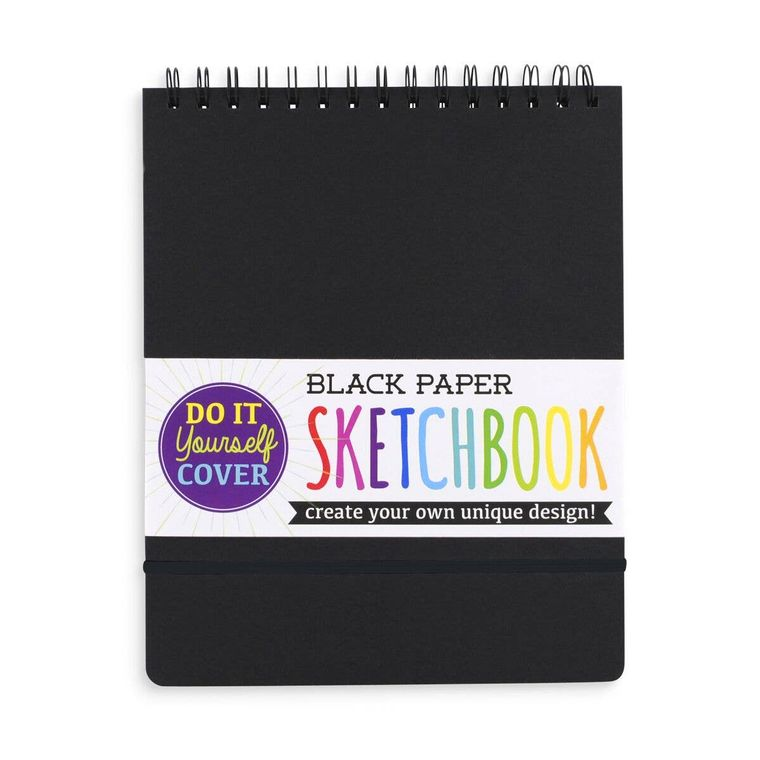 Black Paper Sketch Book with Designable Hardback Cover - Large