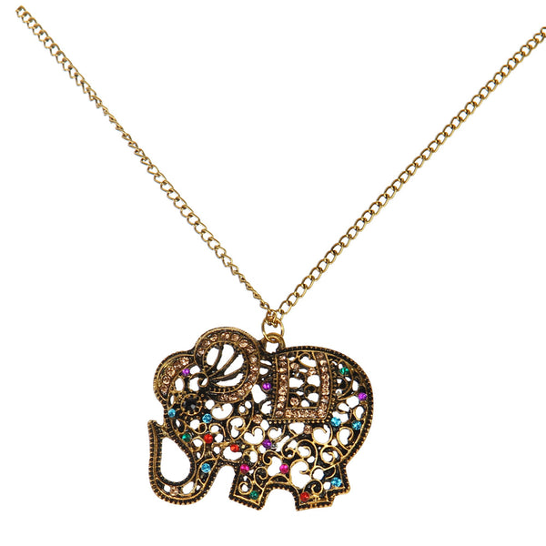 Collier traditionnel éléphant d'Inde
