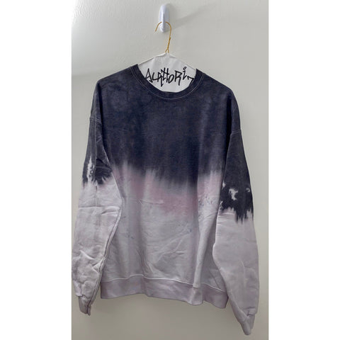 KIDS: Black Acid Wash Sweatshirt
