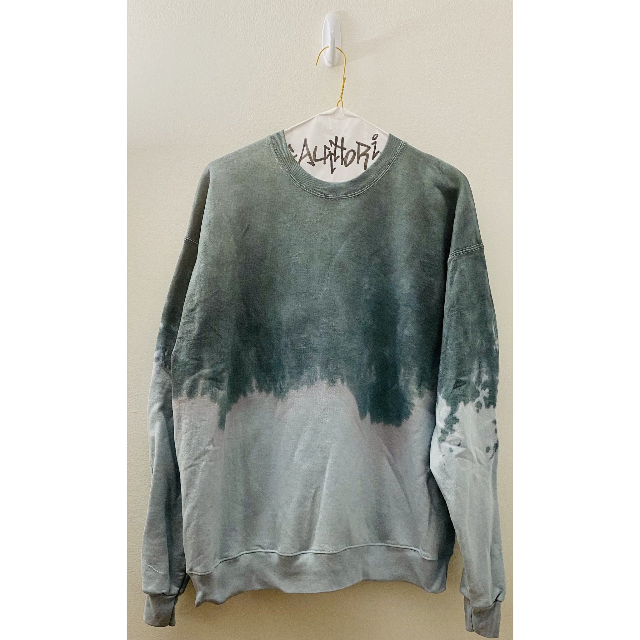 KIDS: Green Acid Wash Sweatshirt