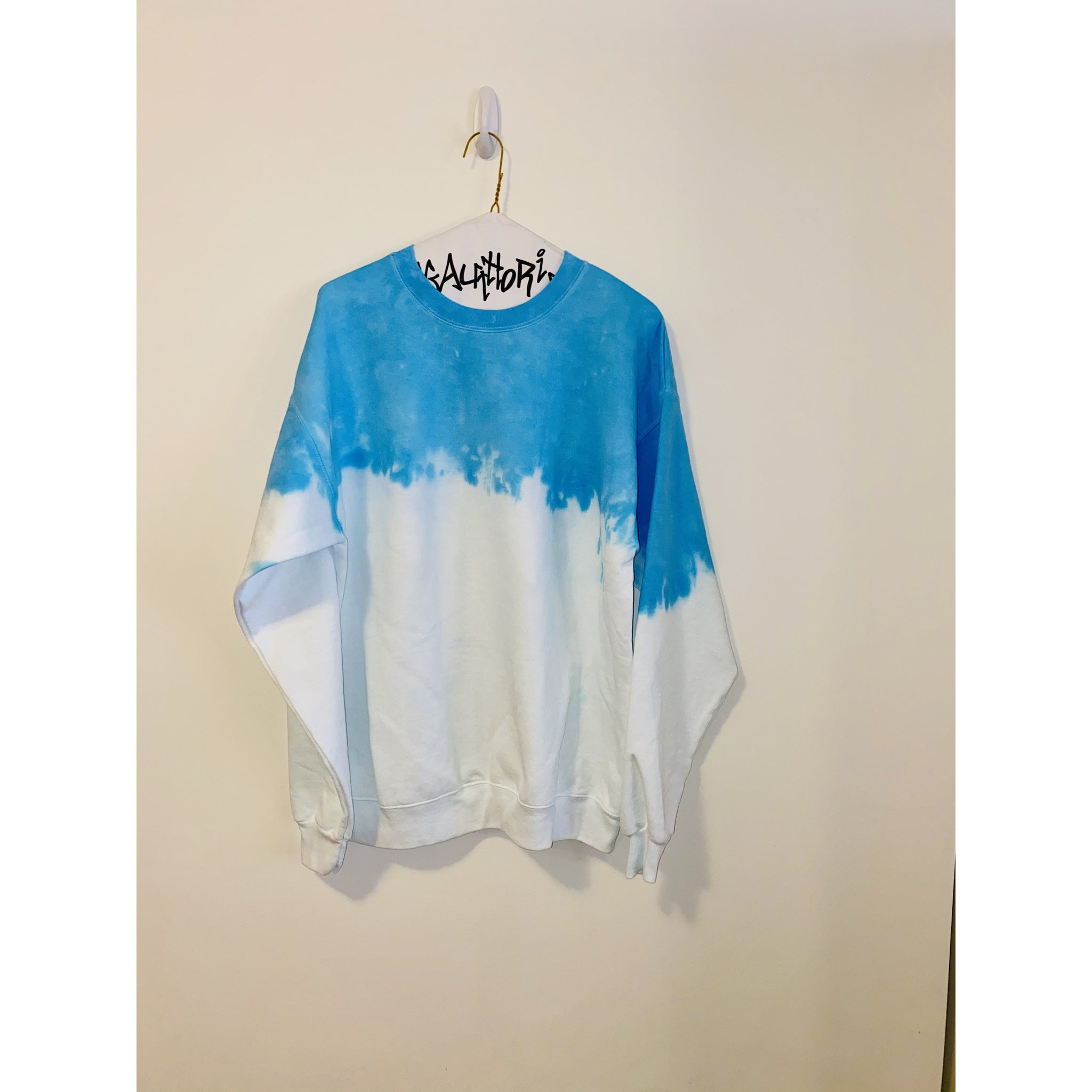 KIDS: Neon Blue Acid Wash Sweatshirt