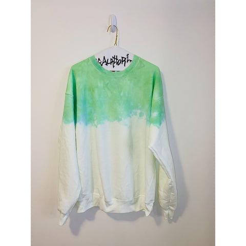 KIDS: Neon Green Acid Wash Sweatshirt