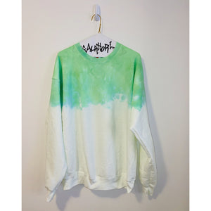 Neon Green Acid Wash Sweatshirt