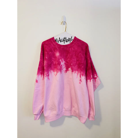 KIDS: Neon Pink Acid Wash Sweatshirt