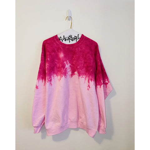 Neon Pink Acid Wash Sweatshirt