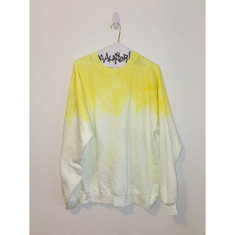 KIDS: Neon Yellow Acid Wash Sweatshirt